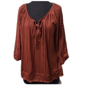 French Laundry Loose Fitting Burnt Sienna Top